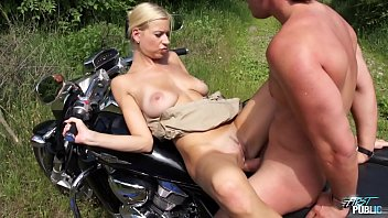 Big Pieces Are Fucked On The Motorcycle - Porn Movies
